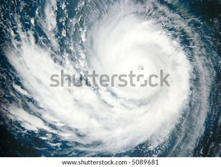 Typhoon over Pacific Ocean - satellite photo
