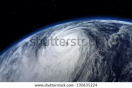 typhoon, satellite view. Elements of this image furnished by NASA