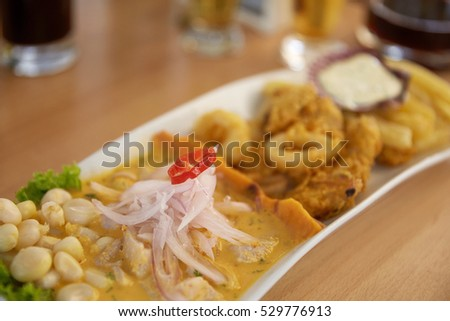 Shutterstock Typical and Traditional Peruvian Dish Seafood Ceviche.