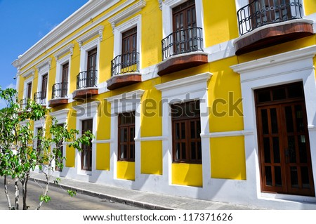 Typical architecture in Old San Juan, Puerto Rico