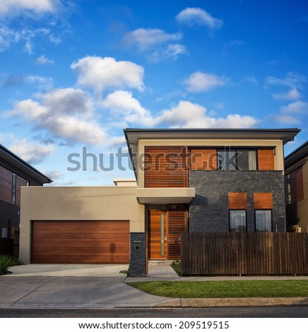 typical Australian modern house closeup