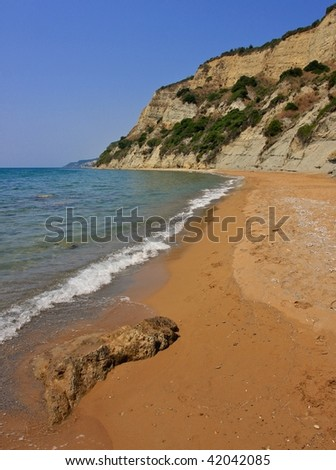 Typical beach at Corfu.