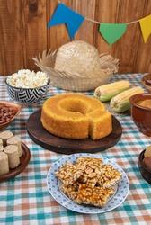 Typical brazilian june festival food. Festa junina.