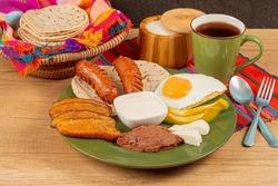 Typical Breakfast in Honduras .