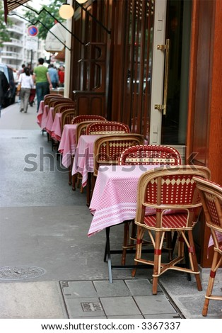 Typical cafe in Paris