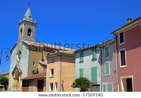 Typical city in Provence