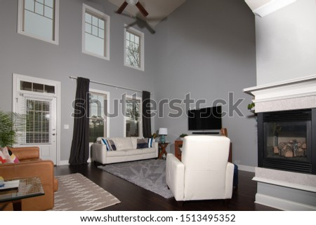Typical contemporary middle class living room in southern United States #1513495352