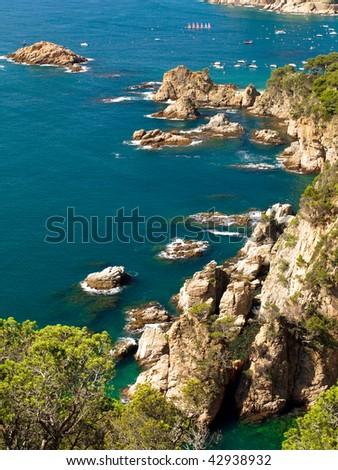 Typical Costa Brava landscape near Tossa de Mar in Spain