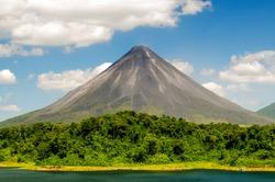 Typical dormant volcano (Costa Rica, La Fortuna).