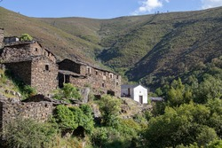 Typical drave village, located in the middle of the Arouca geopark, in Portugal