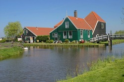 Typical Dutch country house in Netherlands