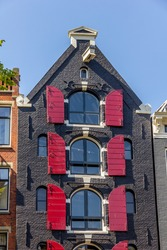 Typical Dutch house in Amsterdam, The Netherlands