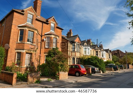 Typical english houses in Oxford. England