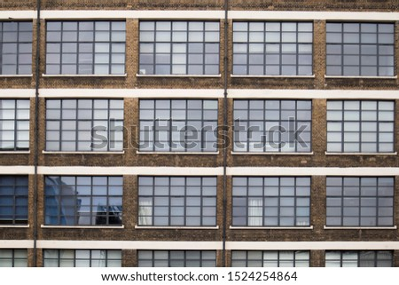 Typical facades of East London factory districts