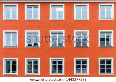 typical facades of old houses in baviera munich