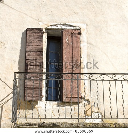 Typical french house, shutter