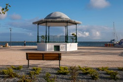 Typical Gazebo bandstand in  Olhao city, Portugal.