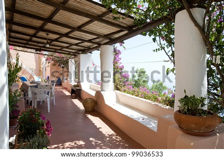 typical house,alicudi, aeolian islands, sicily, italy