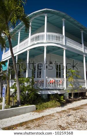 typical house architecture key west florida famous tourist destination