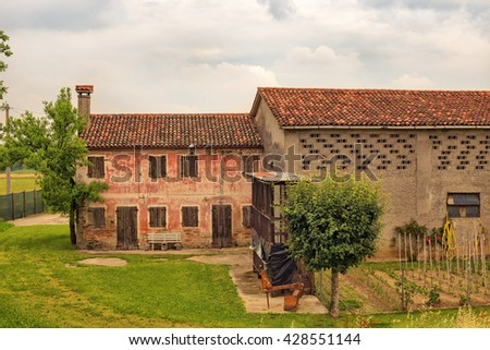 Stock Photo Typical house of farmers in Veneto Italy