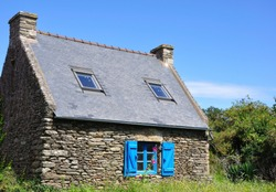 typical house on an island of Brittany