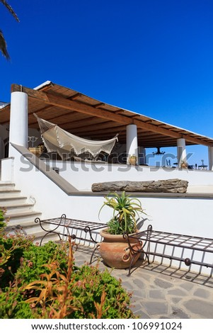Typical house with hammock in Panarea island