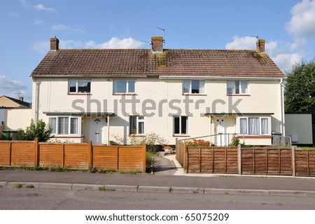 Typical Houses on a Council Estate in England