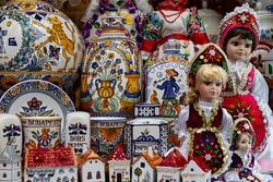Typical Hungarian Souvenir at Budapest Shop Windowshopping Street