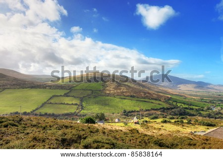 Typical Irish landscape in Dingle peninsula - Ireland.