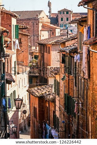 typical italian old town - tuscany - italy - volterra