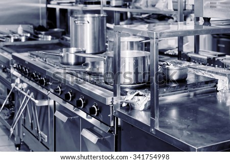 Typical kitchen of a restaurant Stock photo ©