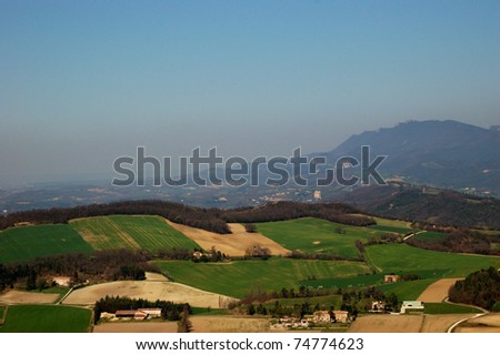 Typical landscape of south of France, Drome, Rhone, Alps