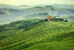 Typical landscape of Tuscany landscape, Italy