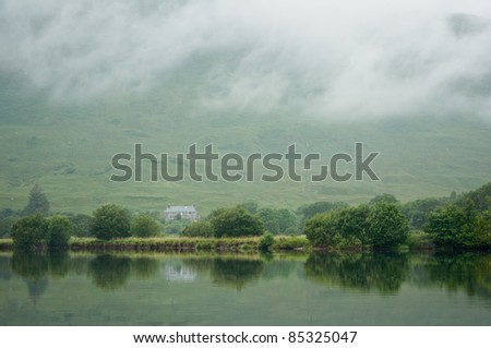 typical loch, lake in Scotland