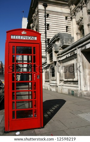 Typical London phone booth - symbol of Great Britain.