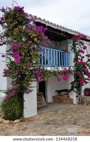 Typical Mediterranean house, Ibiza (Spain)