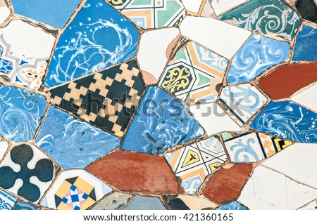 typical mosaic of pieces of...