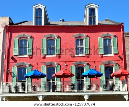 Typical New Orleans French Quarter Architecture