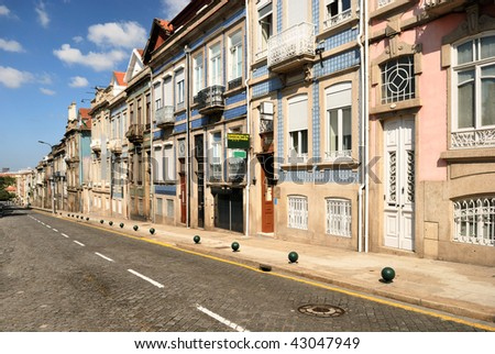 Typical old portugal houses in Porto
