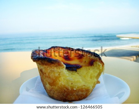 Typical Portuguese custard tart , pastel de nata