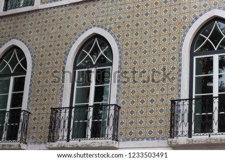 typical portuguese house with portuguese tiles #1233503491