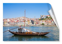 Typical portuguese wooden boats, called
