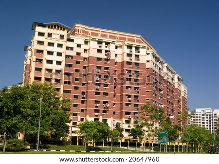 Typical public housing in Singapore