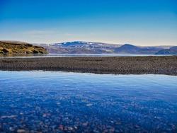 typical scenery on Reykjanes peninsula, Iceland