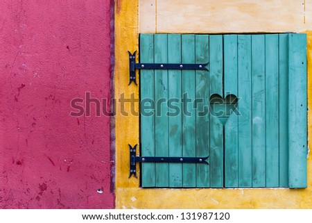 Typical shutter in Nice, France