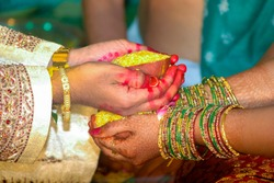 Typical South Indian hindu Wedding tradition in India.