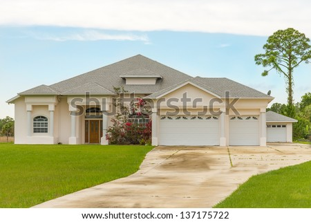 Typical Southwest Florida Concrete Block And Stucco Home