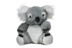 Typical souvenir from Australia. Soft toy koala bear isolated on white background.