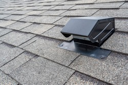 typical static passive vent installation on a residential roof