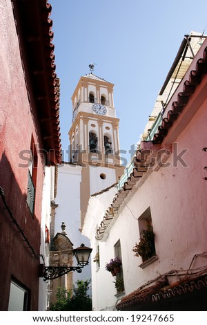 Typical streets in Marbella - Malaga - Andalucia - Spain